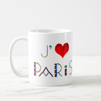 I Love Paris in Notre Dame Stained Glass Coffee Mug