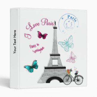 I Love Paris In Springtime Vinyl Binders