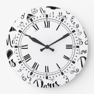 I Love Paris in the Morning Wall Clocks