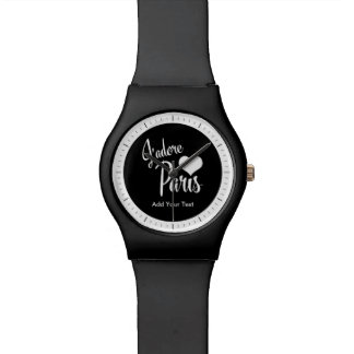 I Love Paris - J'adore Paris vintage style Wristwatches