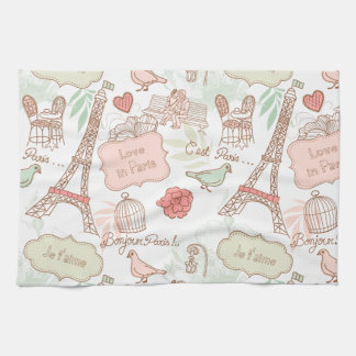 i love paris kitchen towel
