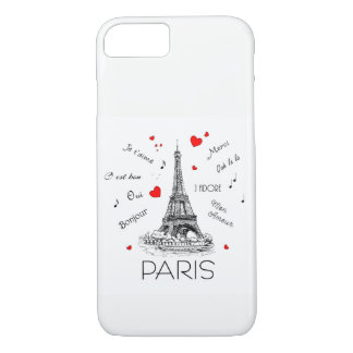 I Love Paris, Mon Amour iPhone 8/7 Case