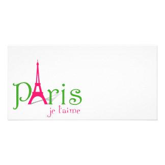 I love Paris Photo Card Template