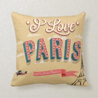 I Love Paris retro design cushion