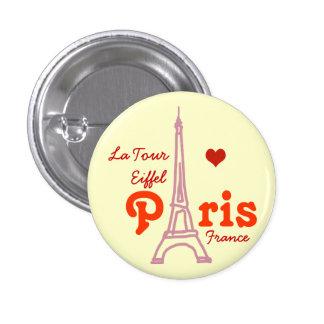 I love Paris . romantic 1 Inch Round Button