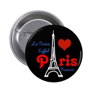 I love Paris . romantic Eiffel 2 Inch Round Button