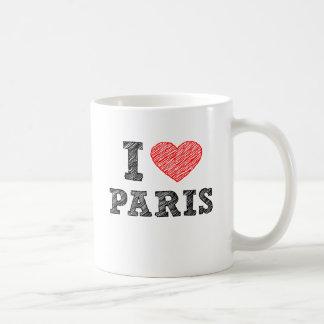 I Love Paris Sketch Coffee Mug