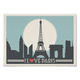 I love Paris Vintage poster