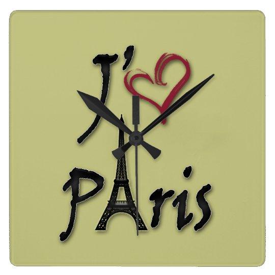 I love Paris Wallclock