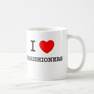 I Love Parishioners Coffee Mugs