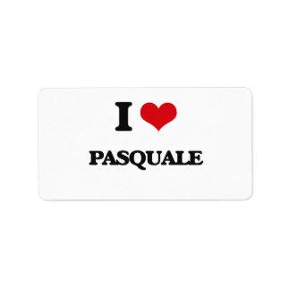 I Love Pasquale Address Label