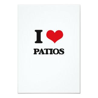 """I Love Patios 3.5"""" X 5"""" Invitation Card"""
