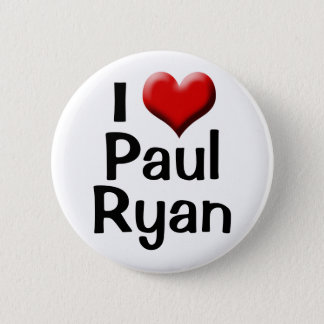 I Love Paul Ryan, Red Heart Button