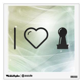 I Love Pawns Wall Sticker