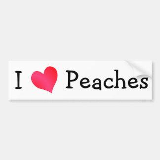 I Love Peaches Bumper Sticker