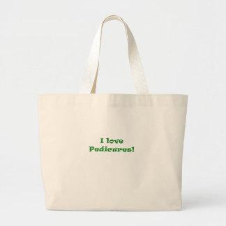 I Love Pedicures Large Tote Bag