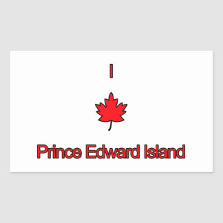 I Love PEI Prince Edward Island Rectangle Stickers