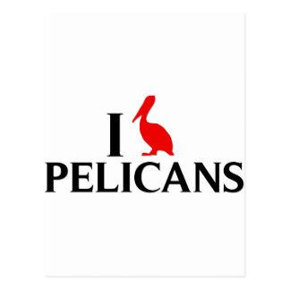 I Love Pelicans Postcard