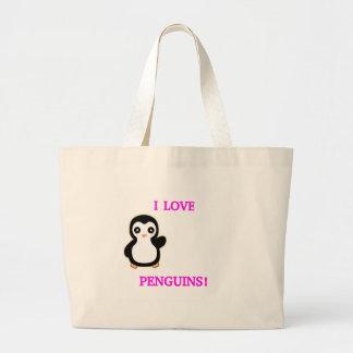 I LOVE PENGUINS! JUMBO TOTE BAG