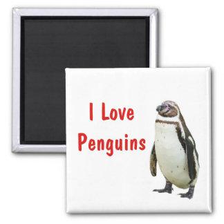 I Love Penguins - Magnet