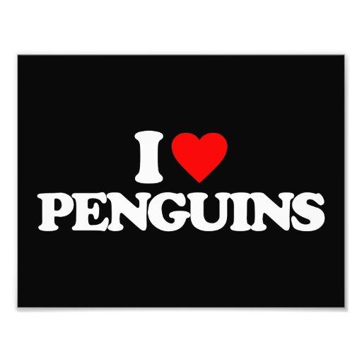 I LOVE PENGUINS PHOTO
