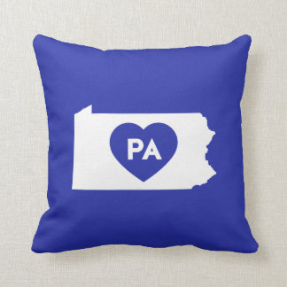 "I Love Pennsylvania State Throw Pillow 16"" x 16"""