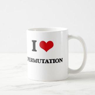 I Love Permutation Coffee Mug