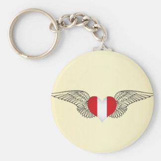 I Love Peru -wings Keychain