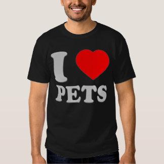 I LOVE PETS SILVER TALK HEART 3D SHIRT