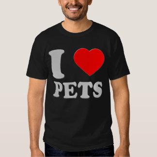 I LOVE PETS SILVER TALK HEART 3D SHIRTS