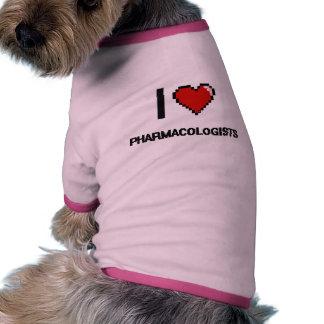 I love Pharmacologists Dog Tshirt