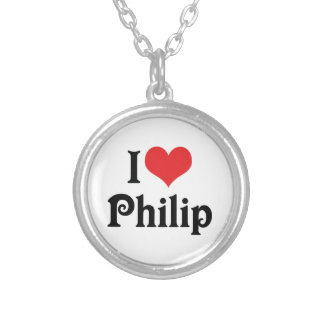 I Love Philip Silver Plated Necklace