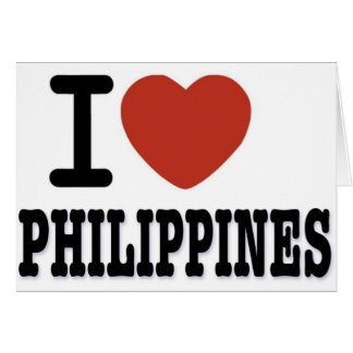 I LOVE PHILIPPINES CARD