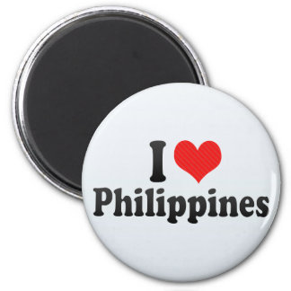I Love Philippines Refrigerator Magnet