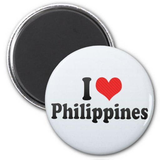 I Love Philippines Refrigerator Magnet