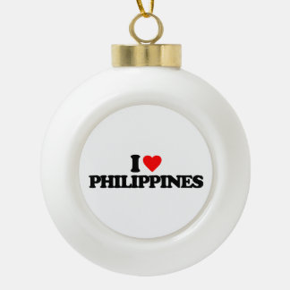 I LOVE PHILIPPINES ORNAMENTS