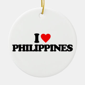 I LOVE PHILIPPINES CHRISTMAS ORNAMENT