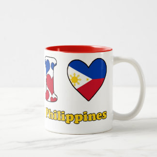 I love Philippines Two-Tone Coffee Mug