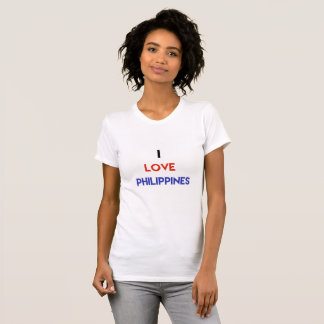 I love Philippines women's t shirt