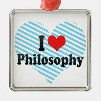 I Love Philosophy Metal Ornament