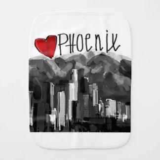 I love Phoenix Burp Cloth