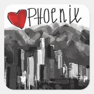 I love Phoenix Square Sticker