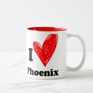 I love Phoenix Two-Tone Coffee Mug