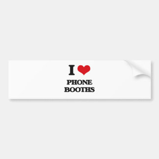 I Love Phone Booths Bumper Sticker