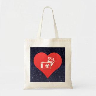 I Love Photo Albums Cool Symbol Budget Tote Bag
