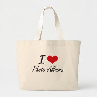 I Love Photo Albums Jumbo Tote Bag