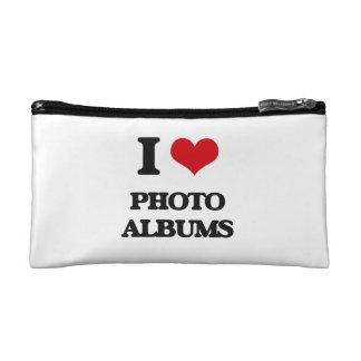 I Love Photo Albums Makeup Bag