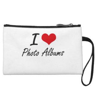 I Love Photo Albums Wristlet Clutches