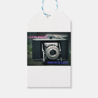 I LOVE PHOTO PHOTO IS LOVE GIFT TAGS