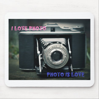 I LOVE PHOTO PHOTO IS LOVE MOUSE PAD